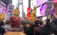 В Нью-Йорке протестовали против войны с Ираном